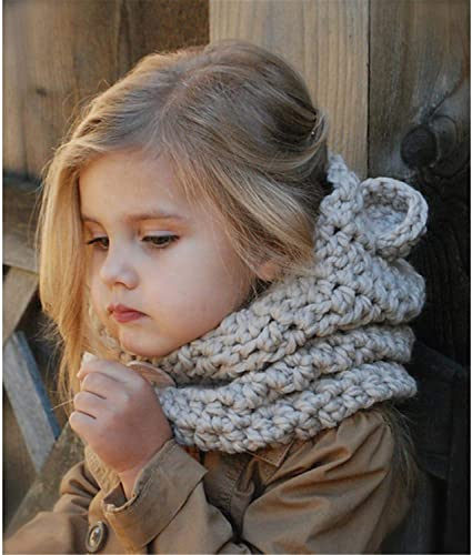 Warme Baby M/ütze Schal Set DOTBUY Kleinkind Kinder H/üte Junge M/ädchen Gestrickte H/äkeln Beanie Winter Slouch Beanie Kinder Unisex Gef/üttert Strickm/ütze Winterm/ütze