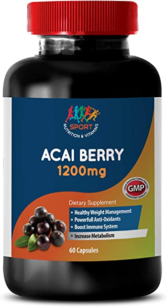 Amazon Com Antioxidant All In One Acai Berry 1200 Mg Dietary Supplements Acai Diet Pills 1 Bottle 60 Capsules Health Personal Care
