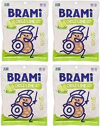 BRAMI Lupini Bean Snack, Chili Lime | Plant Protein, Vegan, Gluten-Free, Low Calorie, Zero Net Carb, Keto, Lightly Pickled, Mediterranean Legume | 5.3 oz (150g), 4 Count