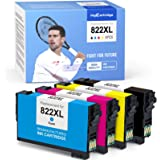 MYCARTRIDGE Remanufactured Ink Cartridge Replacement for Epson 822XL 822 XL T822XL Fit for Workforce Pro WF-4830 WF-3820 WF-4