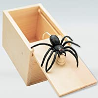 Surprise Spider in Wooden Box Gag Gift Practical Joke Prank Toy Scare Trick Bump