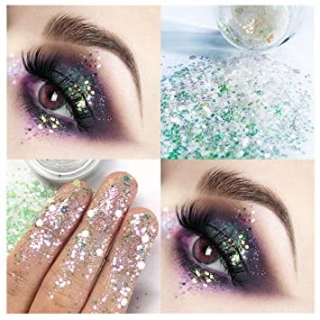 Glitter Sequins Free Glue Diamond Beads Laser Sequins Eyeshadow Powder Color Matte Eye Shadow Cosmetics Beauty Essentials