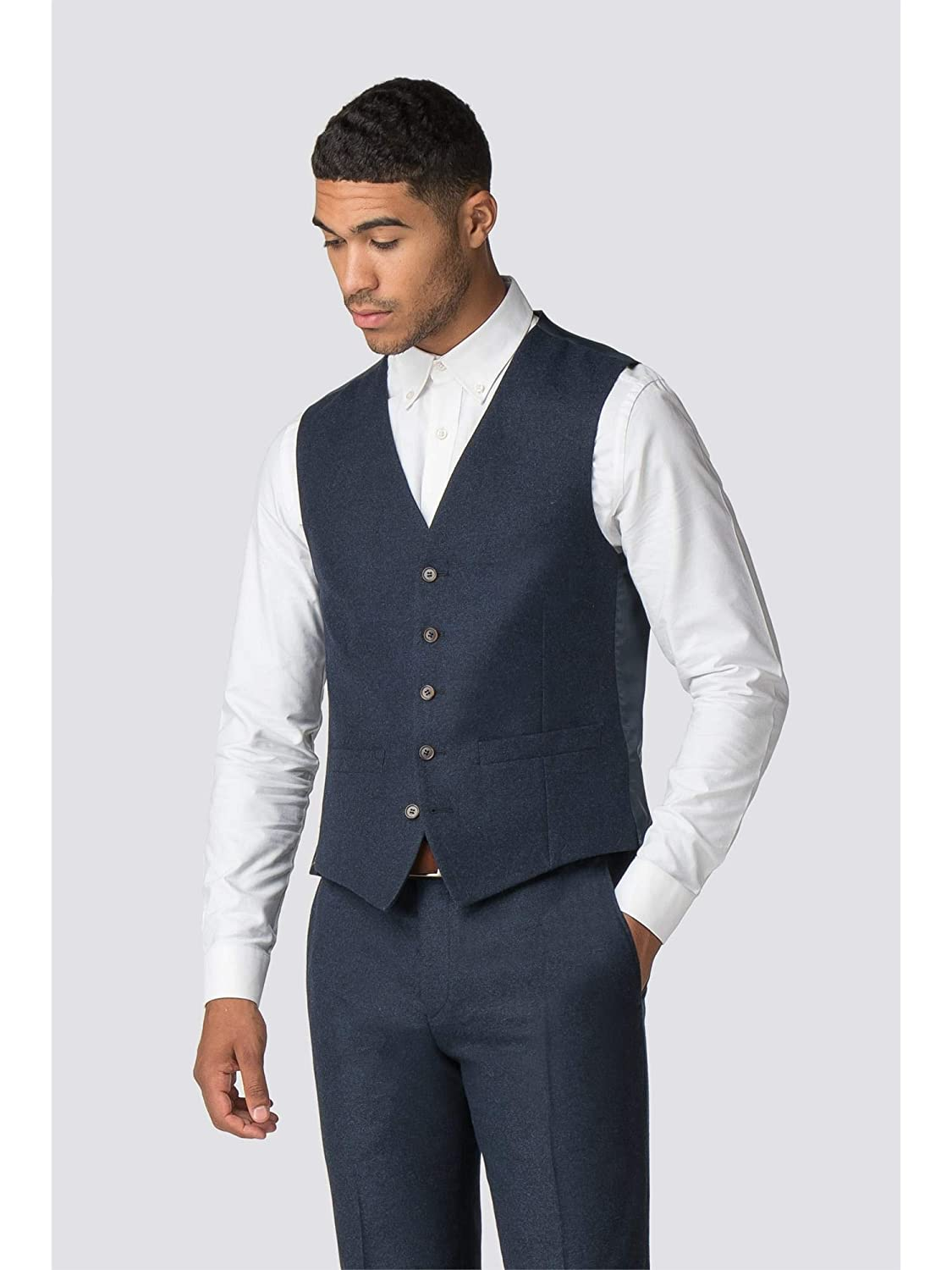 Limehaus Mens Blue Suit Waistcoat in 36R to 46R