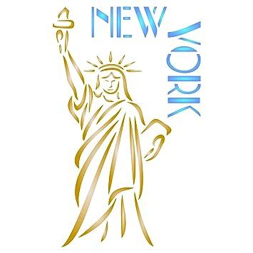 Plantilla de pared reutilizable con diseño de Estatua de la Libertad ...