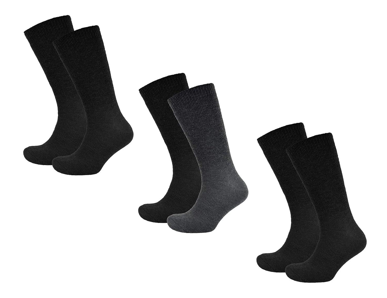 6 Paar Herren Thermo Kniestr/ümpfe Vollfrottee M/änner Winter Socken lang