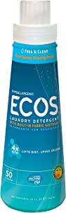 Earth Friendly Products Ecos 4x Concentrated Detergent, Free and Clear, 25 Ounce