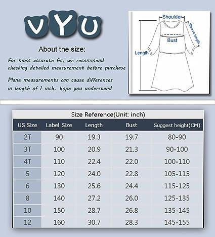 fe5030b6 Amazon.com: VYU Girls Flower Lace Dress Teenager Kids Party Dress for Age  2-12: Clothing