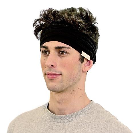 amazon com kooshoo black headband for men premium sports and chef