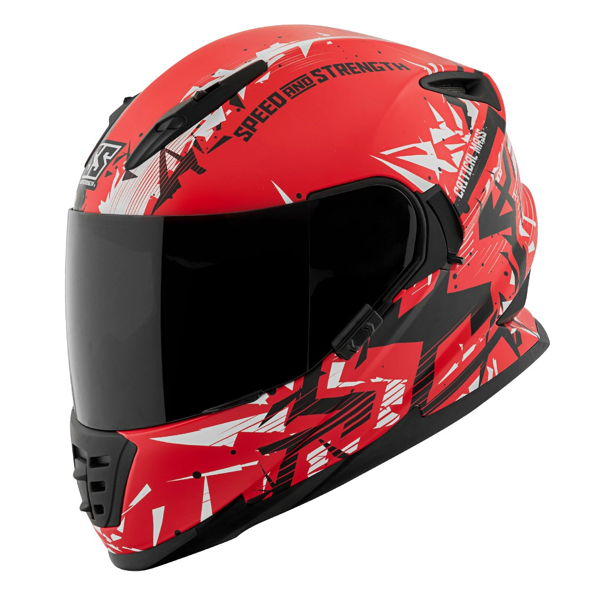 Speed and Strength Critical Mass Red/Black Full Face Helmet, S