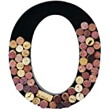 Metal Wine Cork Holder Monogram Decorative Wall Letter (O)