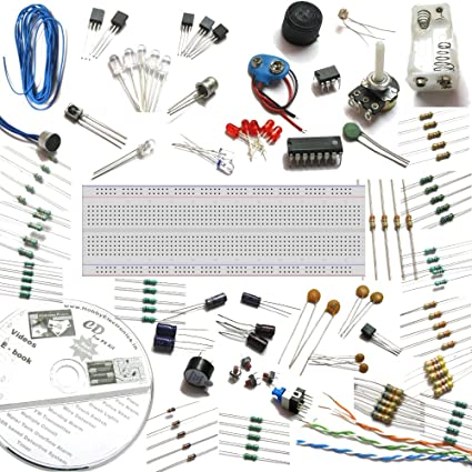 Buy Electronics Project spares with breadboard, 30 circuits eBook CD ...