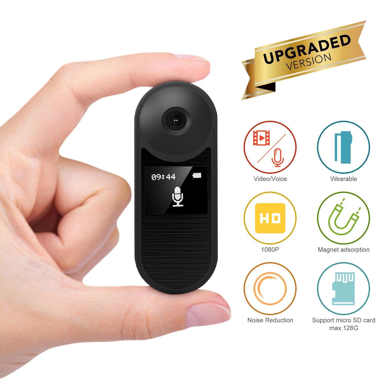 Konesky Grabadora HD, Cámara Espía Oculta Grabadora 1080P Reunión Grabación de Voz Video Grabadora de Audio Videocámara Support Grabación de Ruido Grabación ...
