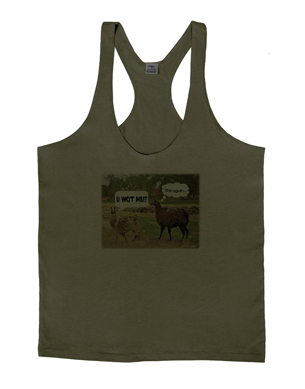 TooLoud Angry Standing Llamas Mens String Tank Top