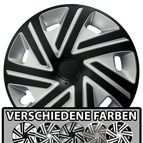 Radkappen Radzierblenden universal 4er PACK 15 Zoll REX RING silver black