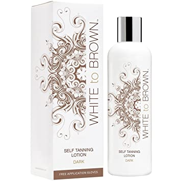 f439a10162e WHITE to BROWN Self Tanning Lotion, Dark, 250 ml: Amazon.co.uk: Beauty
