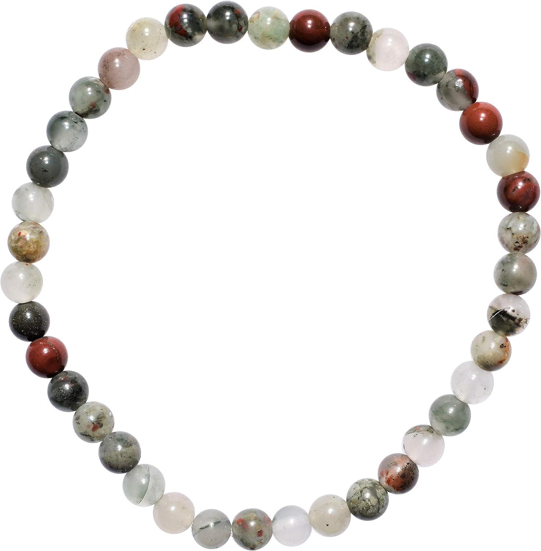 Zenergy Gems Charged Premium Natural Crystal 4mm Bead Bracelet + Moroccan Selenite Charging Crystal