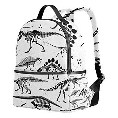 ef9f9ad99c Image Unavailable. Image not available for. Color  School Backpack for Teen  Boys Girls Dinosaur Skeleton ...