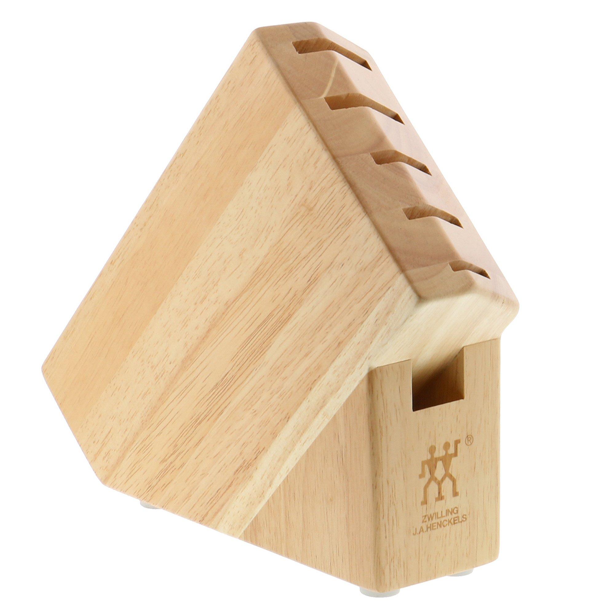 ZWILLING Pro Rubberwood Studio 6-slot Knife Block