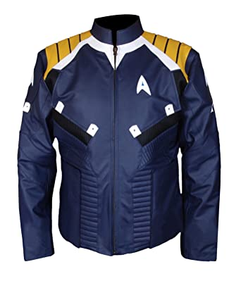 f8a9ce882 Amazon.com: Chris Pine Star Trek Beyond Captain Kirk Leather Jacket ...