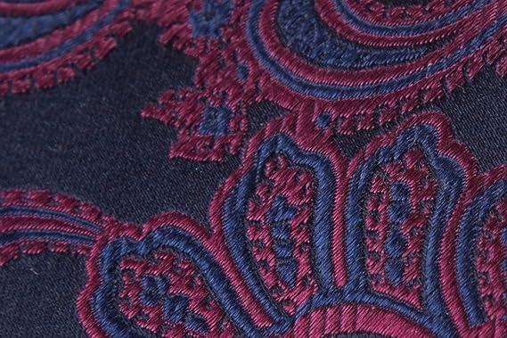 SoloGemelos - Corbata De Seda Azul Con Cachemir Rojo - Azul Rojo ...