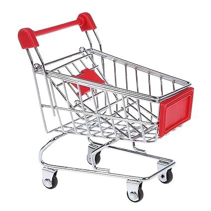 Carrito de compra - SODIAL(R)carrito de compra lapicera hamster de juguete de supermercado para ninos (rojo)