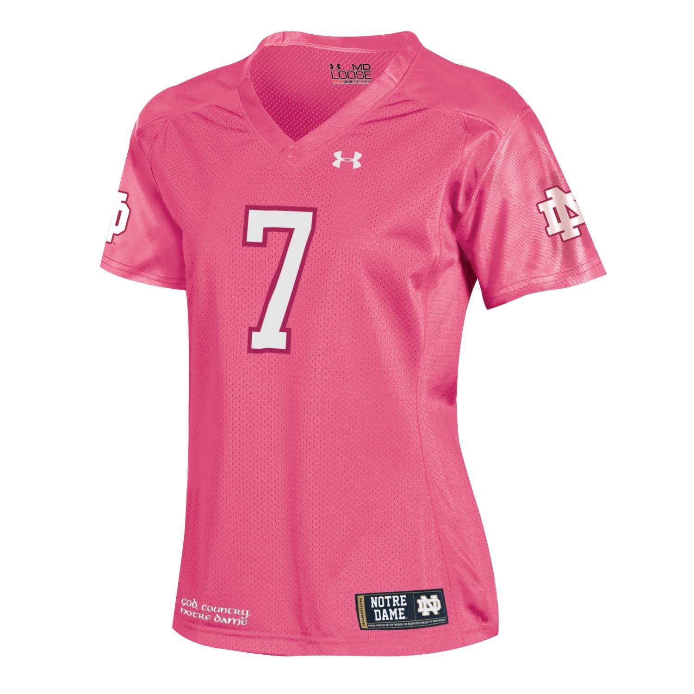 Notre Dame Fighting Irish Under Armour   7 Frauen Pink Sideline Fußball Jersey