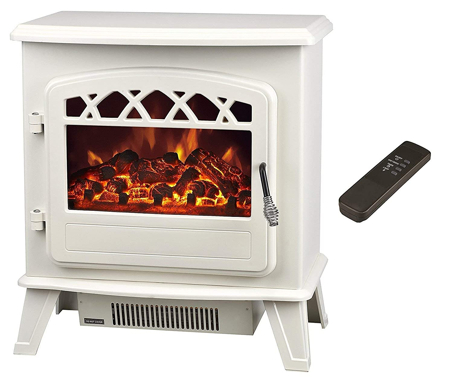 Galleon Fires Castor  Electric Stove - Cream - Electric Stove Fireplaces - Heater - Free standing Fires - Galleon Fireplaces