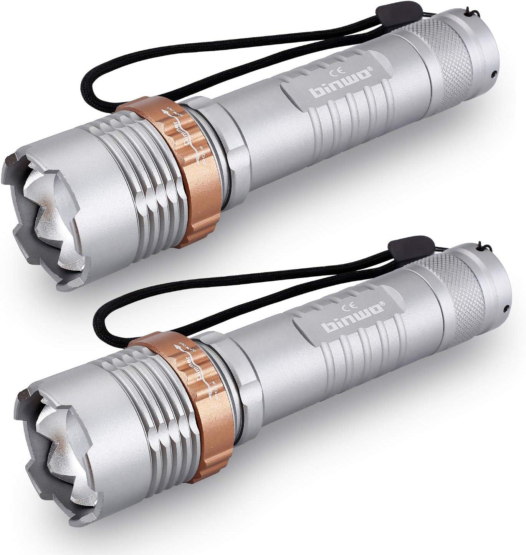 5 DEL torche binwo Haute Puissance Rechargeable Torches Super Bright 2500 Lumen