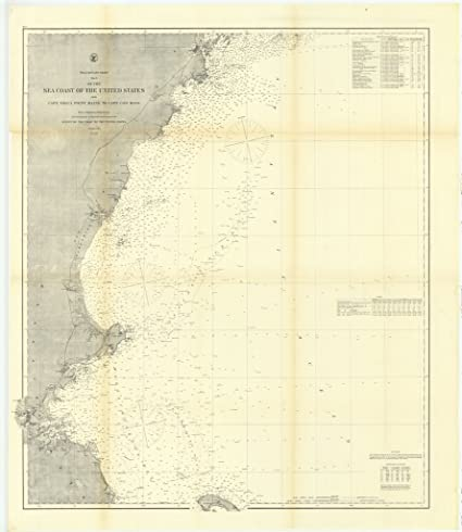 Amazoncom Vintography 24 X 36 Giclee Print Nautical Map Image - Cape-cod-on-us-map