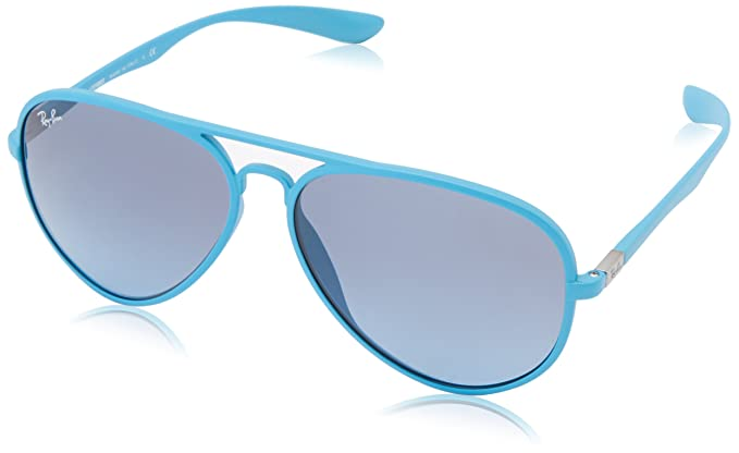 Amazon.com: Ray-Ban AVIATOR LITEFORCE - METALLIZED AZURE Frame BLUE ...