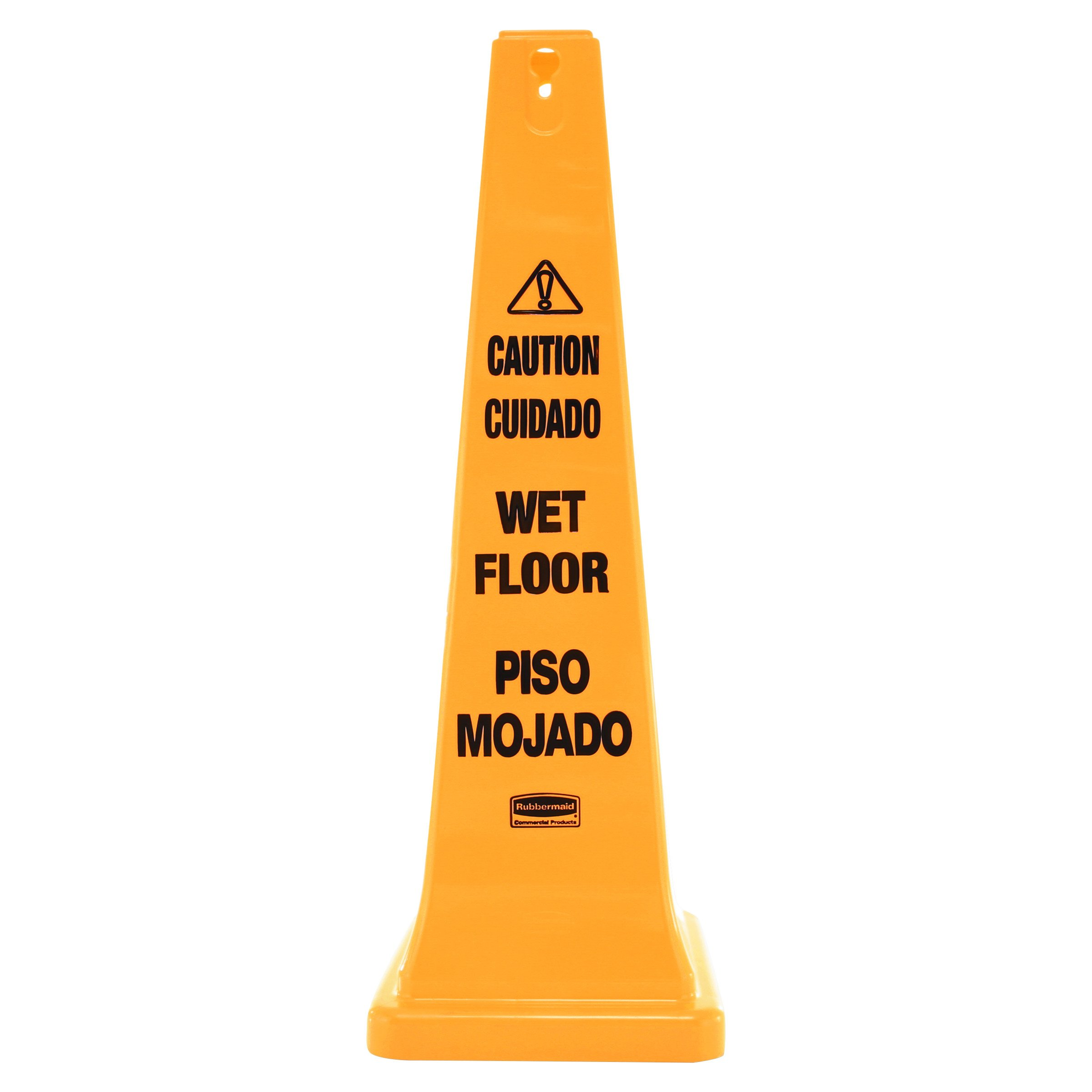 Rubbermaid Commercial Safety Cone, Caution, 36-Inch, Multilingual, FG627677YEL by Rubbermaid Commercial Products (Image #1)