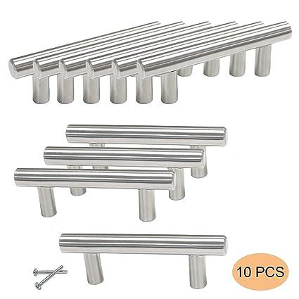 Amazon.com: WEWOSKY - 10 tiradores de acero inoxidable ...