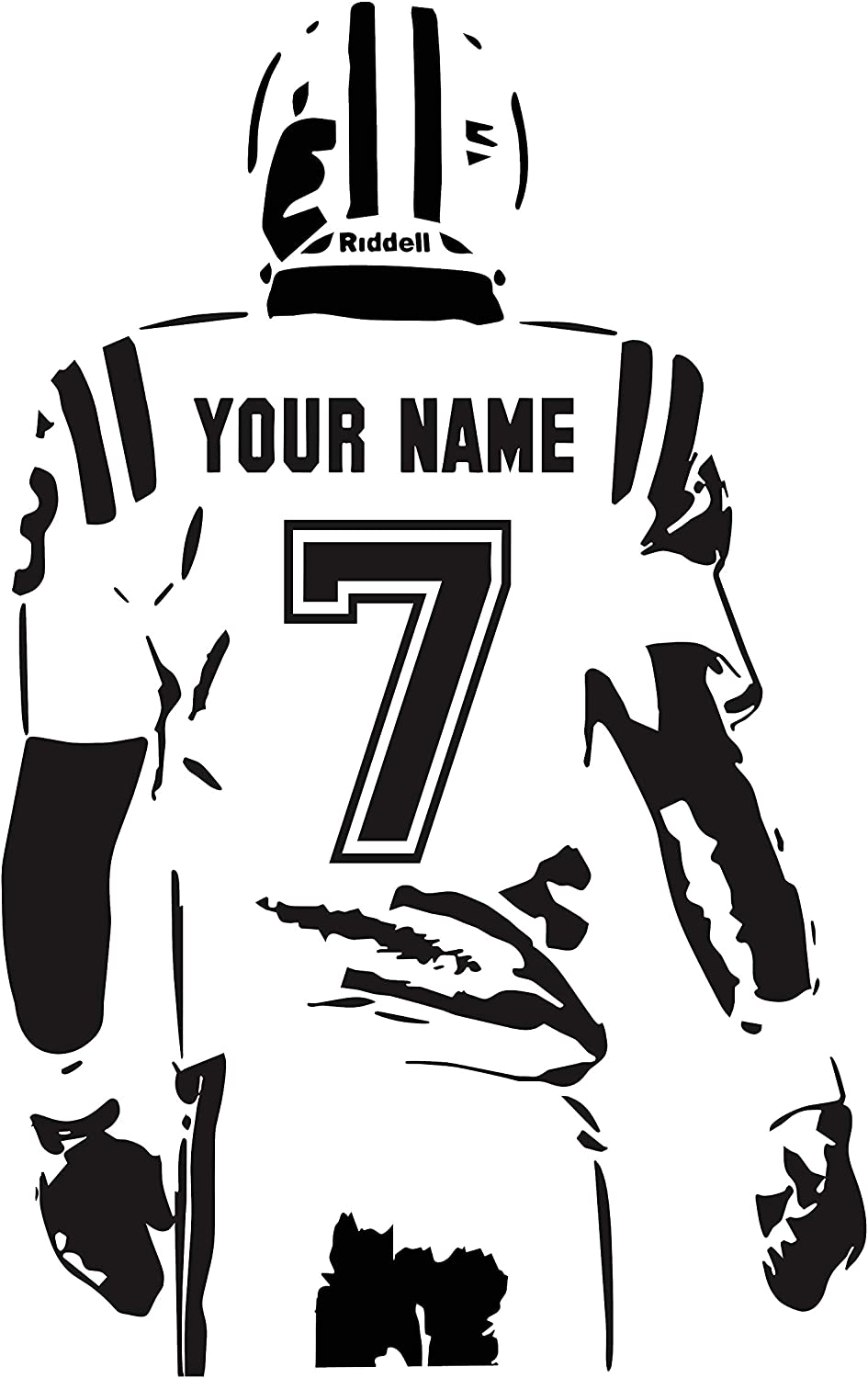PERSONALISED Football Soccer Shirt Wall Sticker Decal Vinyl Adhesive Kids Bedroom G31 Bespoke Choose Any Name And Number