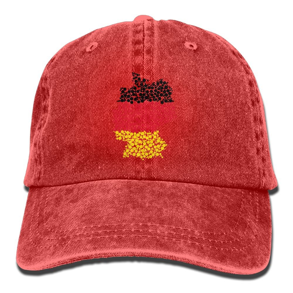 6aaf8025 SDFS83 Germany Adult Cowboy Hat Baseball Cap Adjustable Athletic Custom  Printed Summer Hat For Men and Women at Amazon Men's Clothing store: