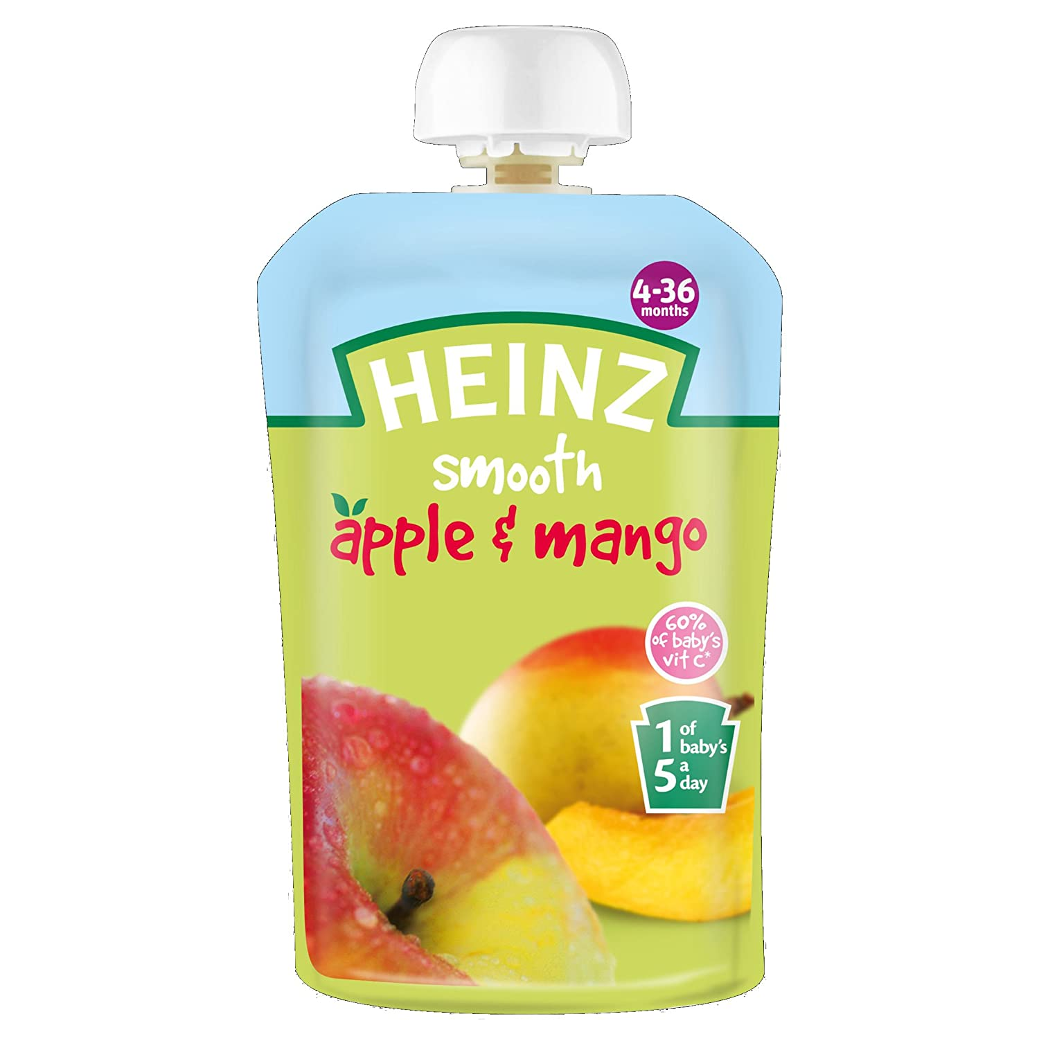 Heinz Apple and Mango Fruit Pouch 4-36 Months 100 g (Pack of 6) Healthcenter