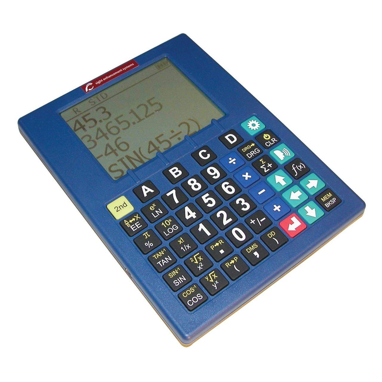 Low Vision Talking Scientific Calculator with Speech Output - Blue