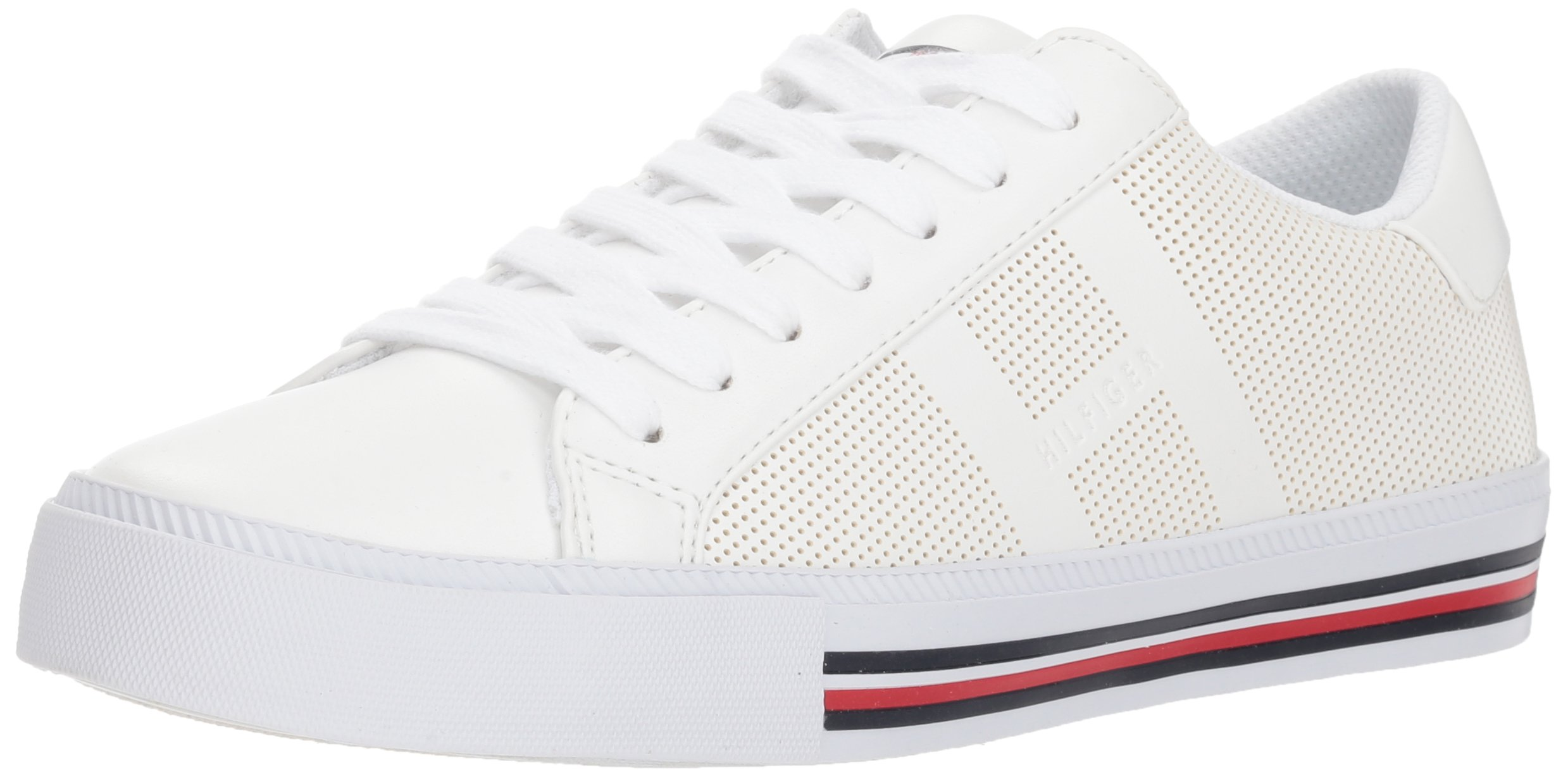 Tommy Hilfiger Women's TAI Sneaker, White, 9.5 M US