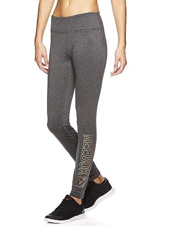 f9f65f0333 Reebok Women's Legging Full Length Performance Compression Pants - Pop  Nouveau Charcoal, X-Small