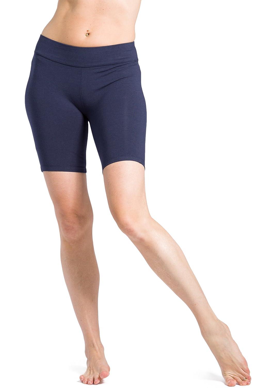 Fishers Finery Women's Ecofabric Classic Yoga Training Running Short; Mid Thigh WV-01-YP1-064