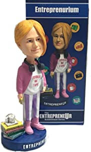 Entreprenurim Bobbleheads | Hand Painted Entrepreneur Bobblehead Figure | Unique Novelty Gift Idea | Premium BobbleHead Figurines for Office & Car | Motivational Dashboard, Decor & Desk Ornament