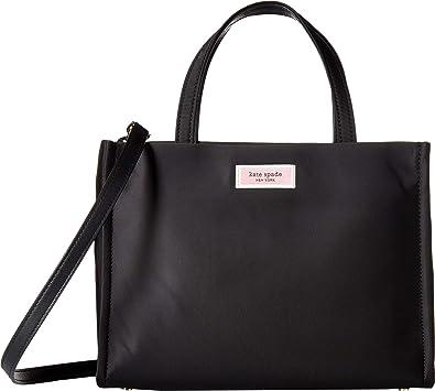 e2b3a3a47f Amazon.com  Kate Spade New York Women s Sam Nylon Medium Satchel Black One  Size  Shoes
