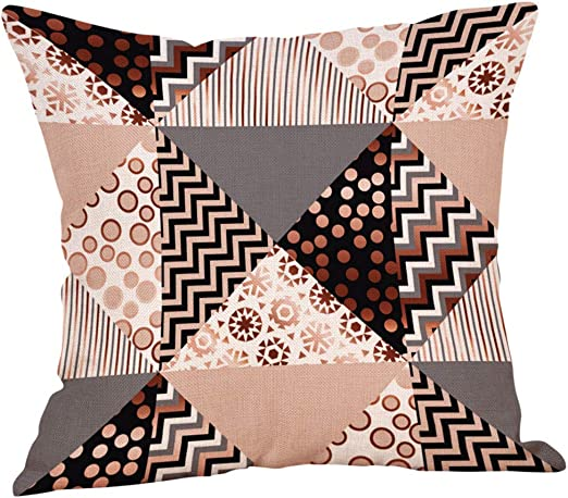 Home Car Pillow Cushion Case Cotton Linen Gift Bed Cover Throw Square Waist