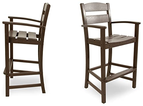 Ivy Terrace IVS110-1-MA Classics 2-Piece Bar Arm Chair Set, Mahogany