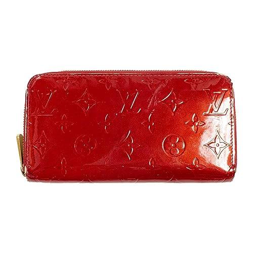 be0987325f41 (ルイヴィトン) LOUIS VUITTON 長財布 ヴェルニ ジッピーウォレット ポムダムール 濃い赤 M91981