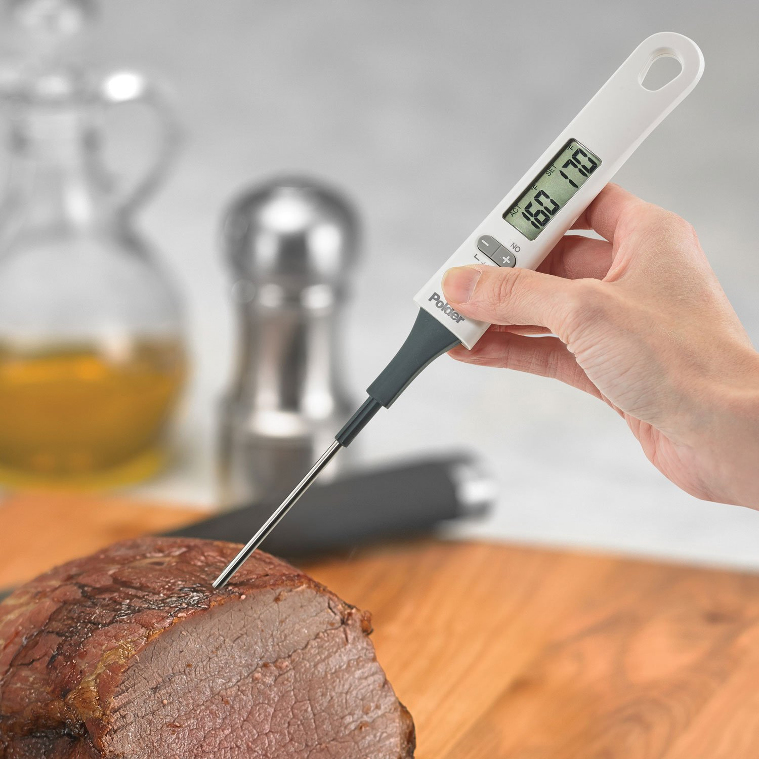 Polder THM-580-90 Digital Baking and Candy Thermometer with Spatula Stirring Attachment, White by Polder (Image #4)