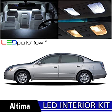 LEDpartsNow 2002 2006 Nissan Altima LED Interior Lights Accessories  Replacement Package Kit (8 Pieces