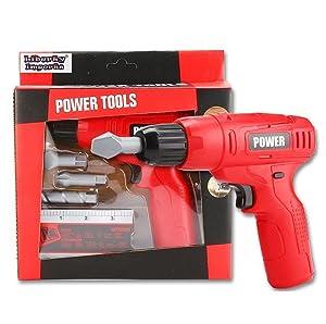 Liberty Imports Power Tools Mini Toy Drill Set 3 Drill Bits