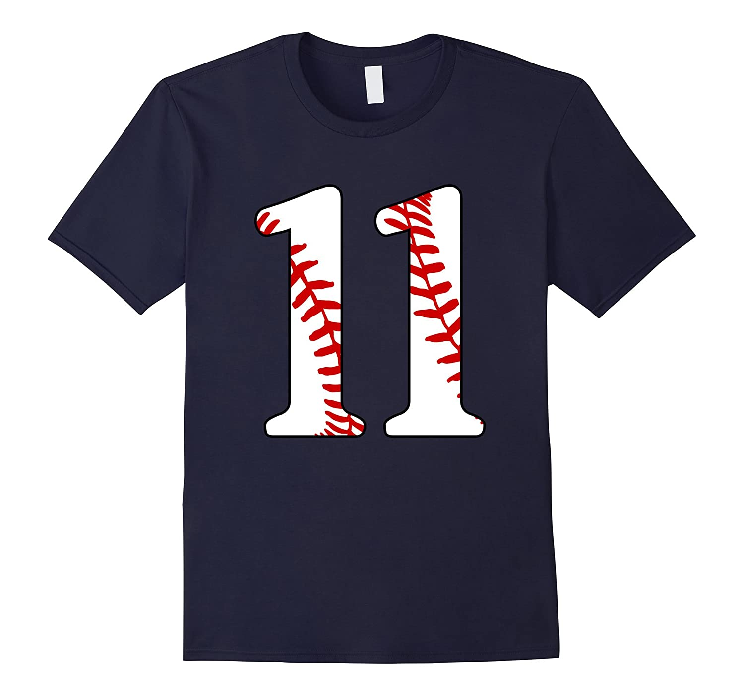 11 Baseball 11nd Birthday Boy Eleven Years Baseball Mom T-s-TD