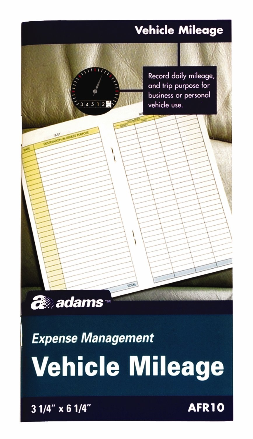 Amazon Adams Vehicle Mileage Journal 325 X 625 Inches White AFR10 Expense Forms Office Products