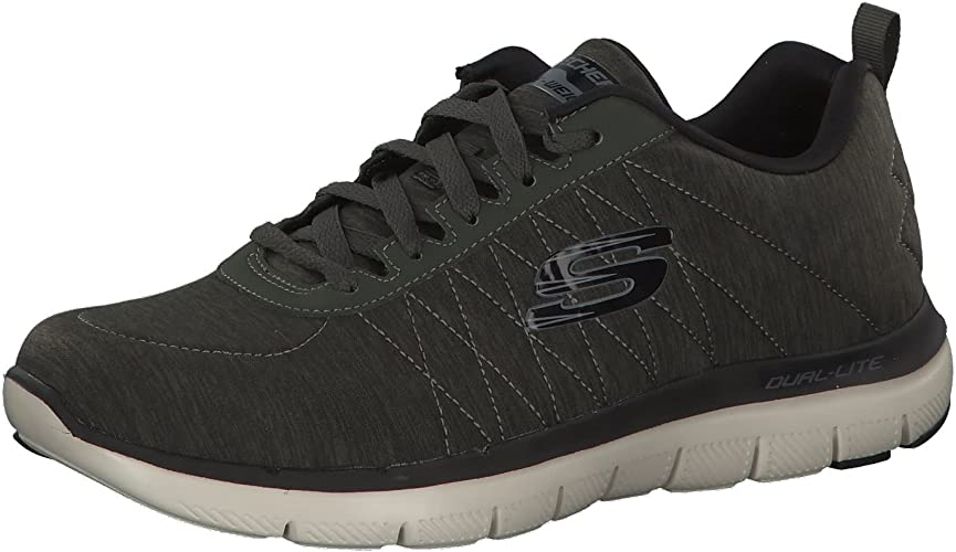 víctima demoler intermitente  Skechers Mens Mens Flex Advantage 2.0 Chillston Trainers in Olive - UK:  Amazon.co.uk: Shoes & Bags